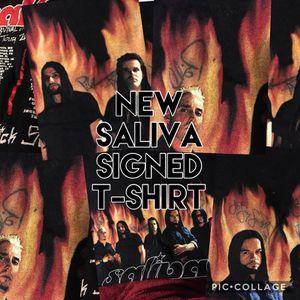 Signed saliva t-shirt medium new for Sale in Gaithersburg, MD
