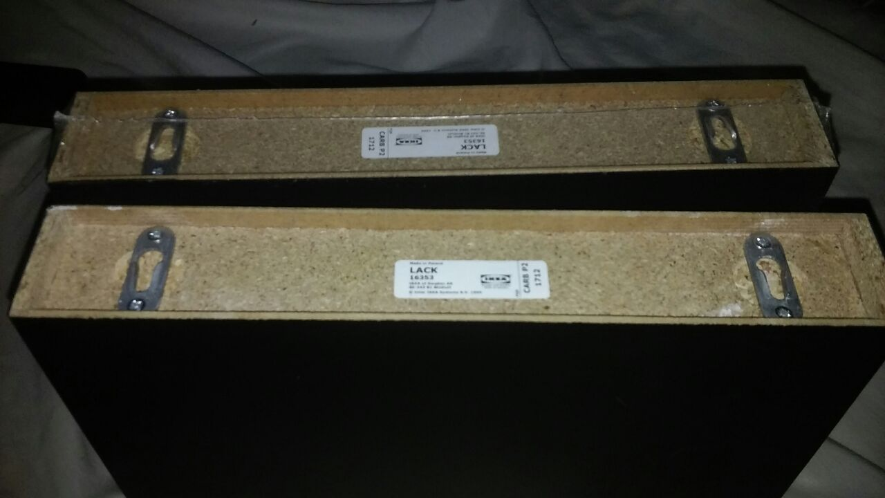 Brand new Ikea shelves twin set