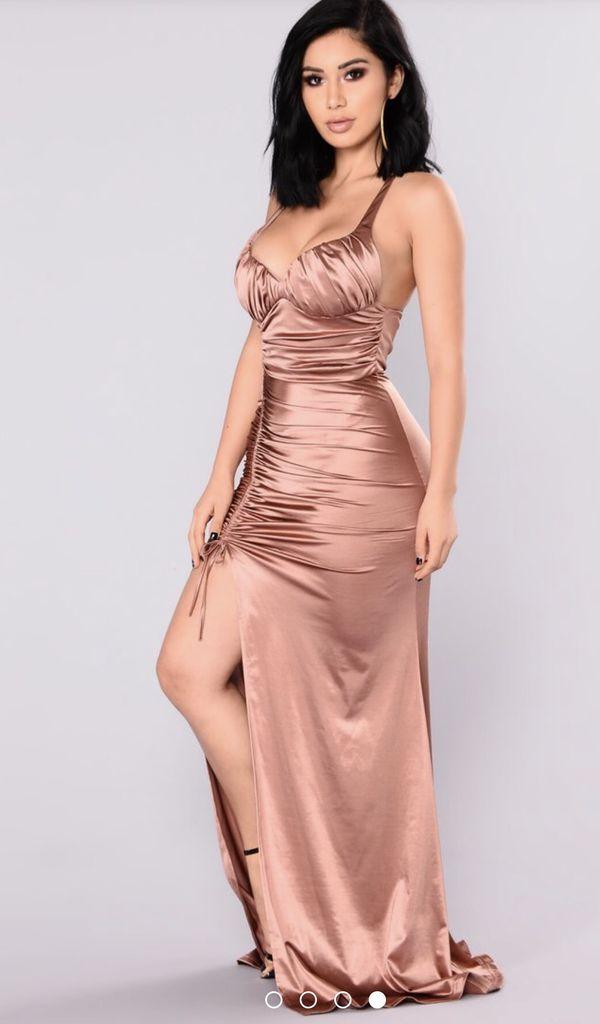 31a499b329 FASHION NOVA  Roxanna Mermaid Satin Dress - Coco  for Sale in San ...