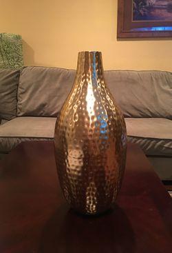 Hammered Bronze vase Thumbnail