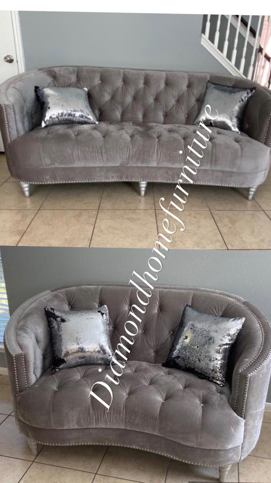 New Gray Living Room Set /29 Down