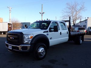 2015 Ford F550 4X4 diesel 11 ft flat bed finance available for Sale in Manassas, VA