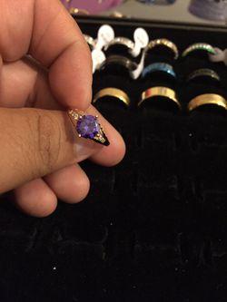 Beautiful 18 karat gold filled ring for women size 7 Thumbnail