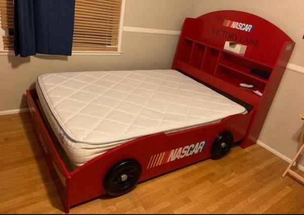 Nascar Full Bed Frame Only For Sale In Pasadena CA OfferUp Adorable Nascar Bedroom Furniture