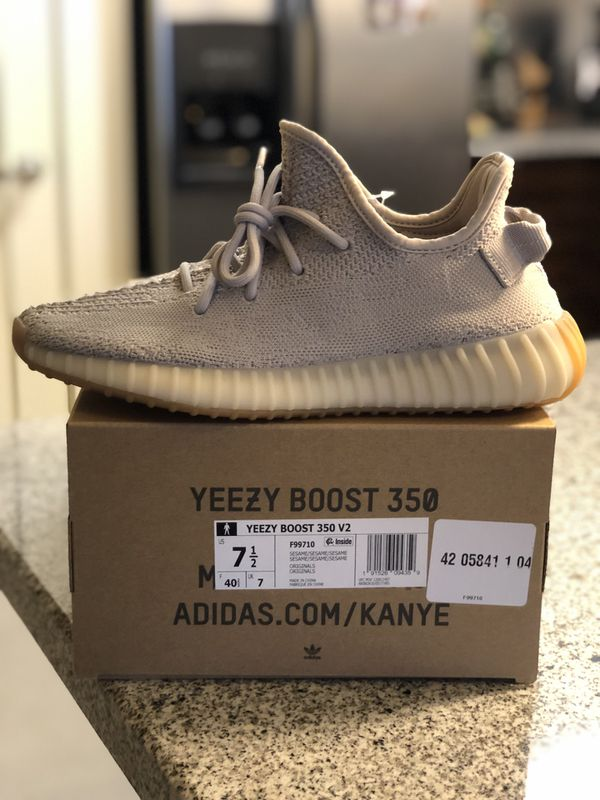 low priced d265e 5cf96 Yeezy 350 Boost V2 Sesame 7.5 NEW for Sale in San Mateo, CA - OfferUp