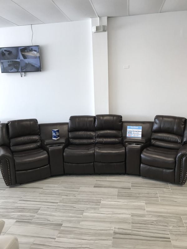 CLEARANCE SALE NEW FLORENCE RECLINING THEATER SEATING SECTIONAL