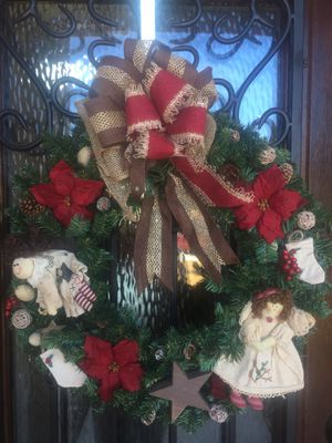 Angel Christmas wreath handmade for Sale in San Antonio, TX