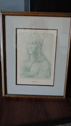 """Sketch By Di Leonardo da Vinci """"SODOMA"""" Retrato de joven for Sale in Manassas, VA"""
