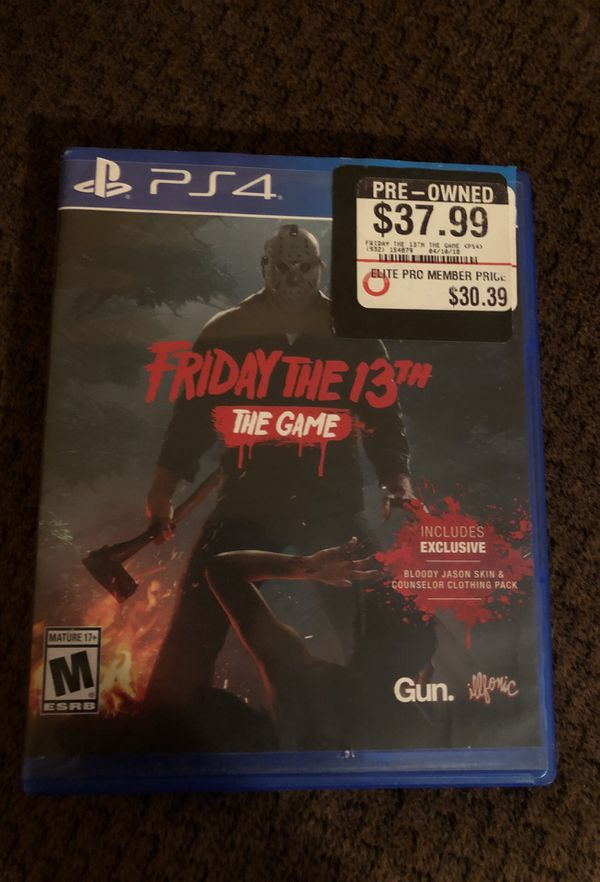 Friday the 13th for ps4 (read description) for Sale in Avondale, AZ -  OfferUp