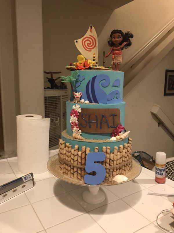 Moana DIY Party Boat And Candy Bar Back Round
