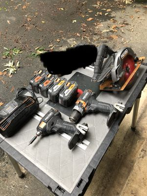 Rigid brushless tool set with four batteries for Sale in Olney, MD