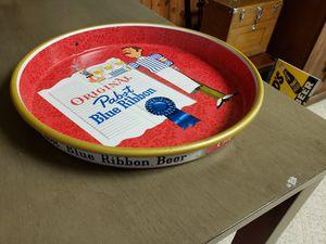 Photo Pabst Blue Ribbon tray