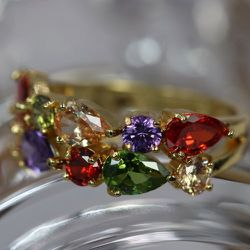 CZ rings 6-9 sizes. Yellow gold, platinum or rose gold Thumbnail