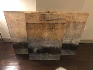 3 piece canvas artwork for Sale in Atlanta, GA