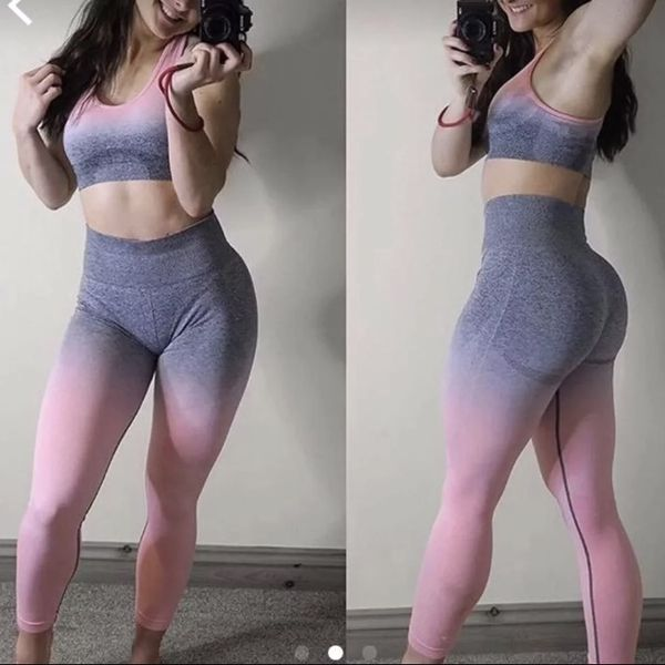 9110503356a62 Gymshark Seamless Ombré Outfit for Sale in Turlock