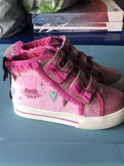 Bows and peppa pig shoes!!!! Thumbnail