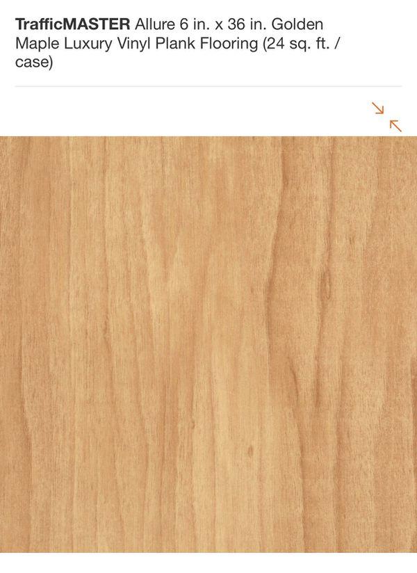 Trafficmaster Allure 6 In X 36 Golden Maple Luxury Vinyl Plank Flooring For Glendale Az Offerup