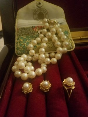 14k gold Pearl Set for Sale in Fairfax, VA