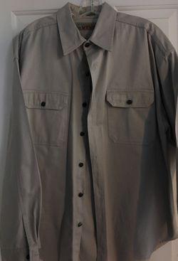 Men's XL light tan 100 percent cotton Thumbnail