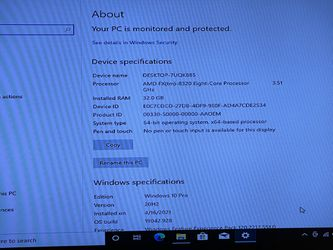 pc Gaming Amd Fx (Tm) -8320 Eight- Core Processor 3512MHz 4 Core (s) 32GB RAM 256GB SSD 1TB HDD WINDOWS 10 And Working Good  Thumbnail
