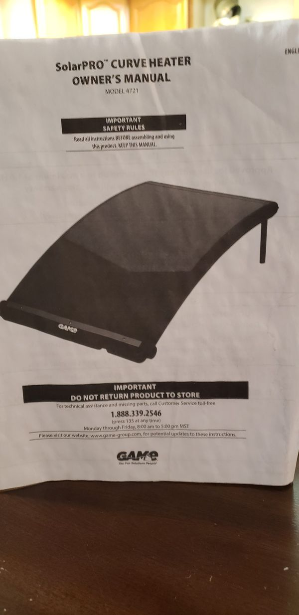 Above Ground Solar Heating Panel New Never Used For Sale