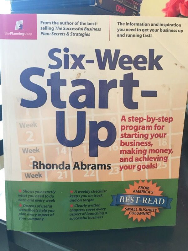 Six Week Start Up By Rhonda Abrams For Sale In Tampa Fl Offerup
