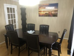 Esquire Dining Table and 6 Chairs - Cherry for Sale in Upper Marlboro, MD