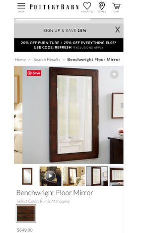 Pottery barn mirror for Sale in Hyattsville, MD