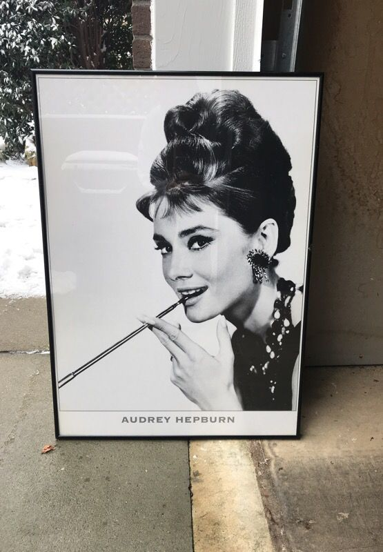framed Audrey Hepburn poster for Sale in Simpsonville, SC - OfferUp