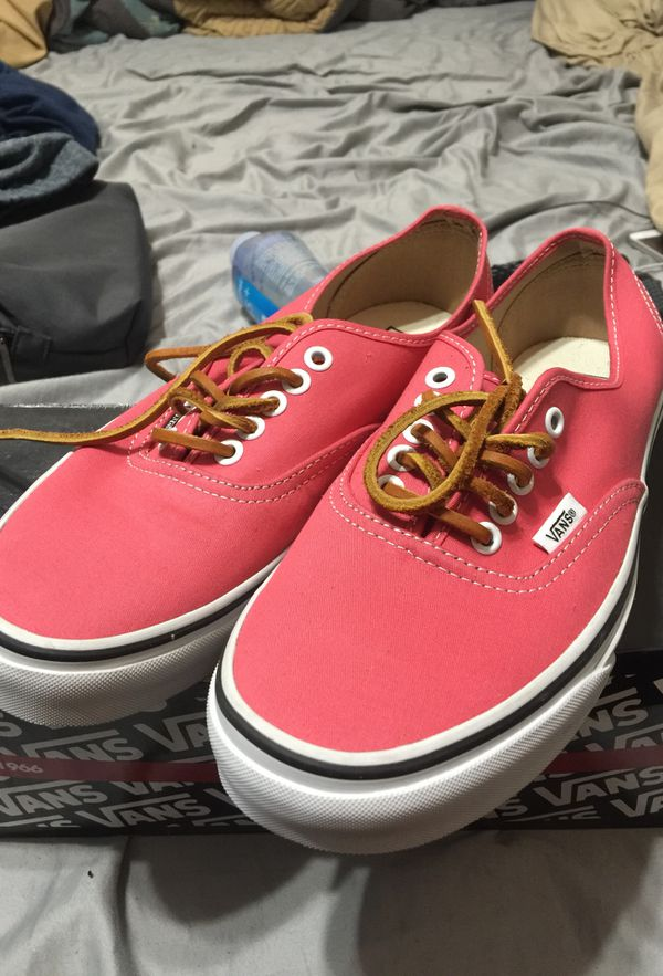 1836374672 Vans Authentic (brushed twill) Salmon. Size 7.5 men  9 women for ...