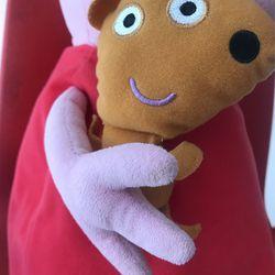 Large Peppa pig Stuffy  Thumbnail