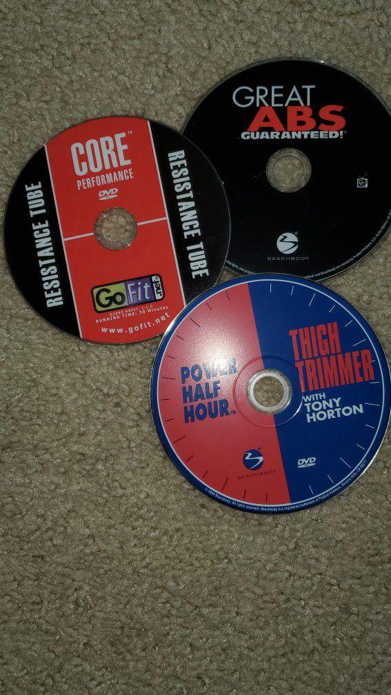 Workout DVDs, P90x, Insanity, Turbo Jam, Etc