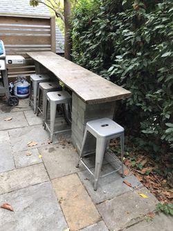 FREE: Two Live Edge Cedar Pieces & Fifty 8x16x4 Concrete Blocks Thumbnail