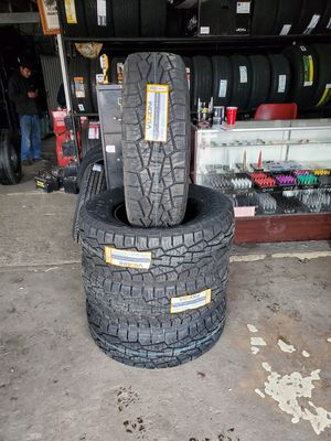 Photo 285/70/17 New all terrain tires for $650 with balance and installation we also finance {contact info removed} Dorian 7637 airline dr houston TX 77037