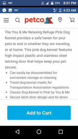 """You & Me Relaxing 24"""" Pink & Black Dog Kennel Thumbnail"""