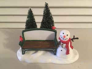 """Dept. 56 Snowman and Bench Entitled """"Our Own Village Park Bench"""" for Sale in Sun City, AZ"""