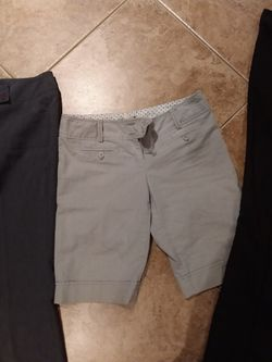 7 Medium Large Wetseal Pants Shorts Career Work Suit Pants Khaki Bundle #c Thumbnail