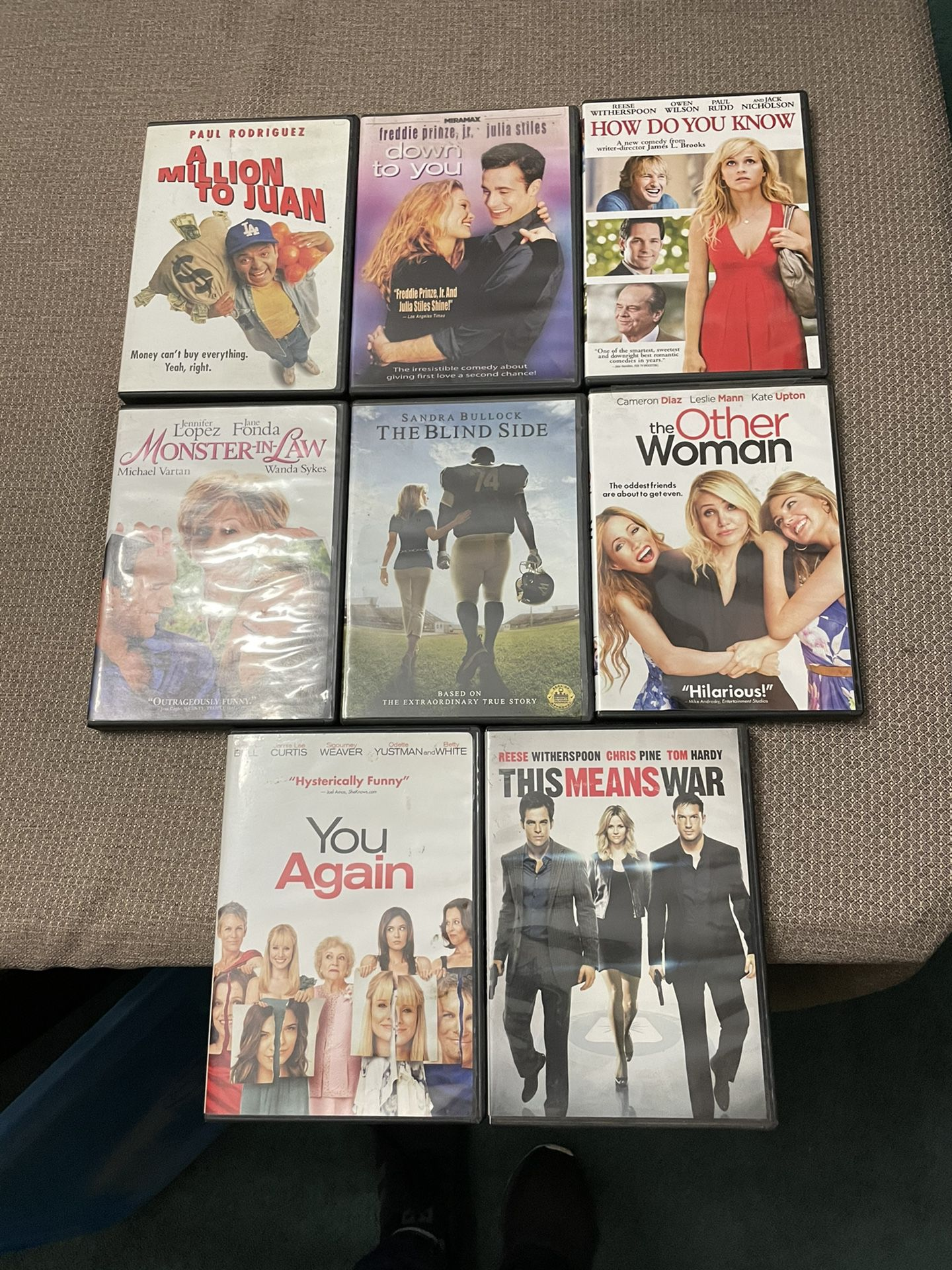 DVD's $3 EACH OR 5/$10 Some Like New **A FEW SPANISH MOVIES