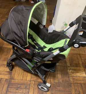 Graco Snug Ride 30 Click Connect Car Seat Front Adjust - Bear Trail w/ Graco Sung Ride Elite Stroller Frame for Sale in Washington, DC