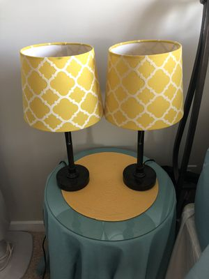 Yellow lamps $10 for Sale in Frederick, MD
