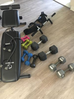 Weights, bench and pull up bar for Sale in El Segundo, CA