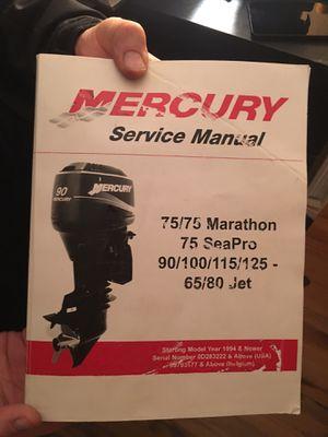 Mercury Service Manual for Sale in Napa, CA
