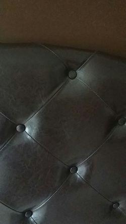 Brown leather headboard Thumbnail