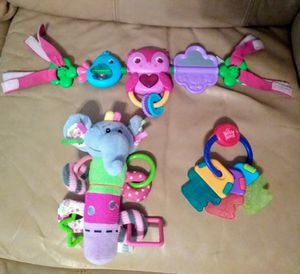 3 piece infant toys bundle. Carseat/stroller infant toy for Sale in Clermont, FL