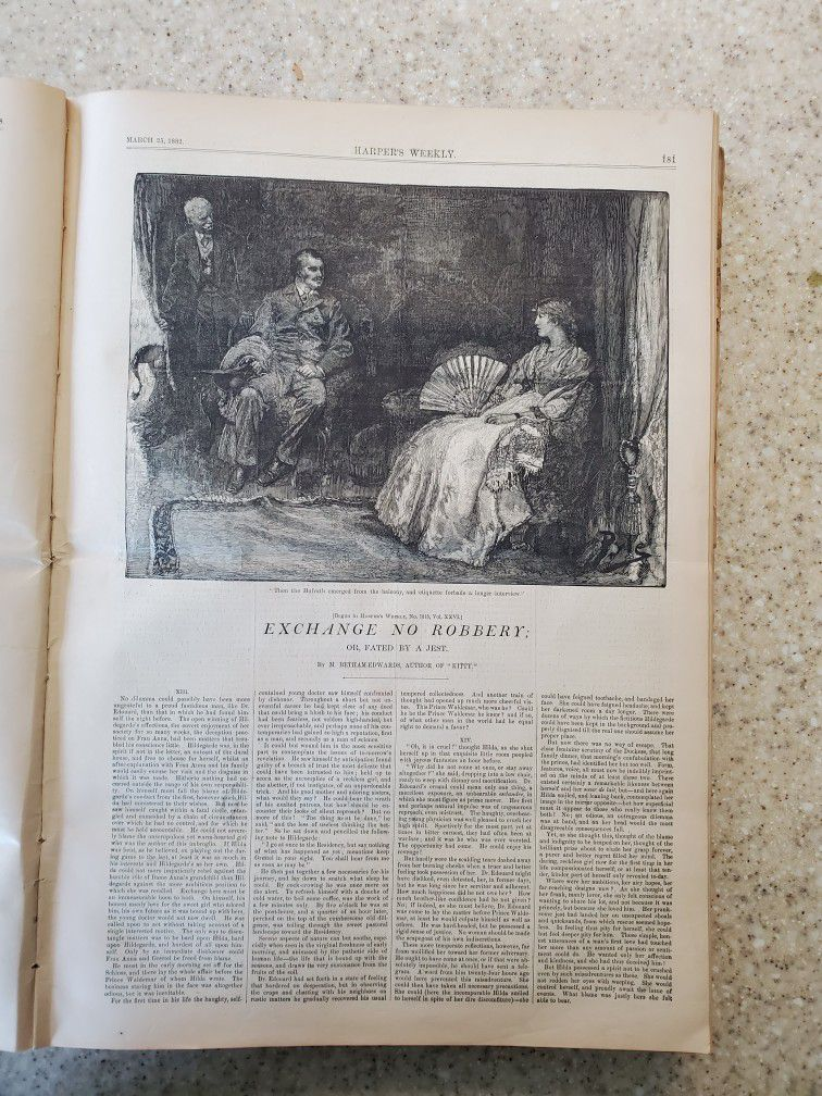 Rare Book Harpers Weekly 1882
