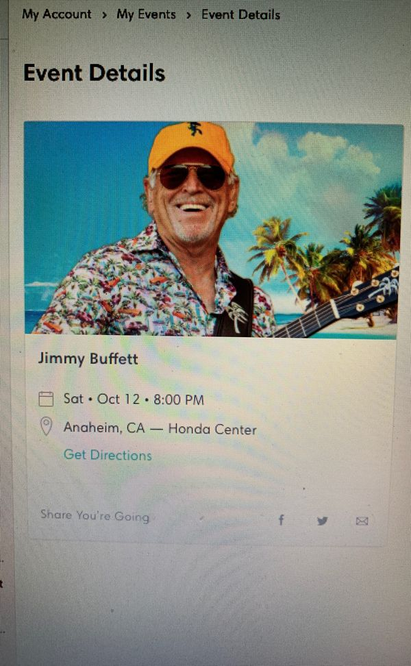 Jimmy Buffet tickets for Sale in Los Angeles, CA - OfferUp