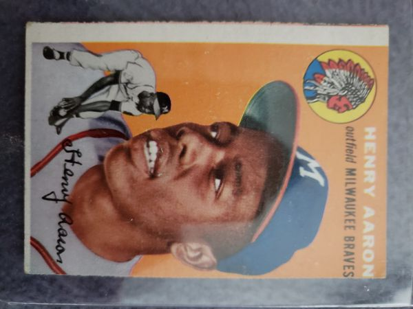 Hank Aaron Rookie Card Rare Topps 128 For Sale In Fort Campbell Tn Offerup