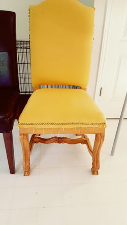 Antique style upholstered chair Thumbnail
