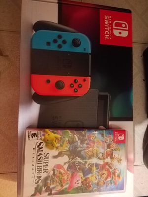 Nintendo Switch PLUS super smash bros. for Sale in Alexandria, VA