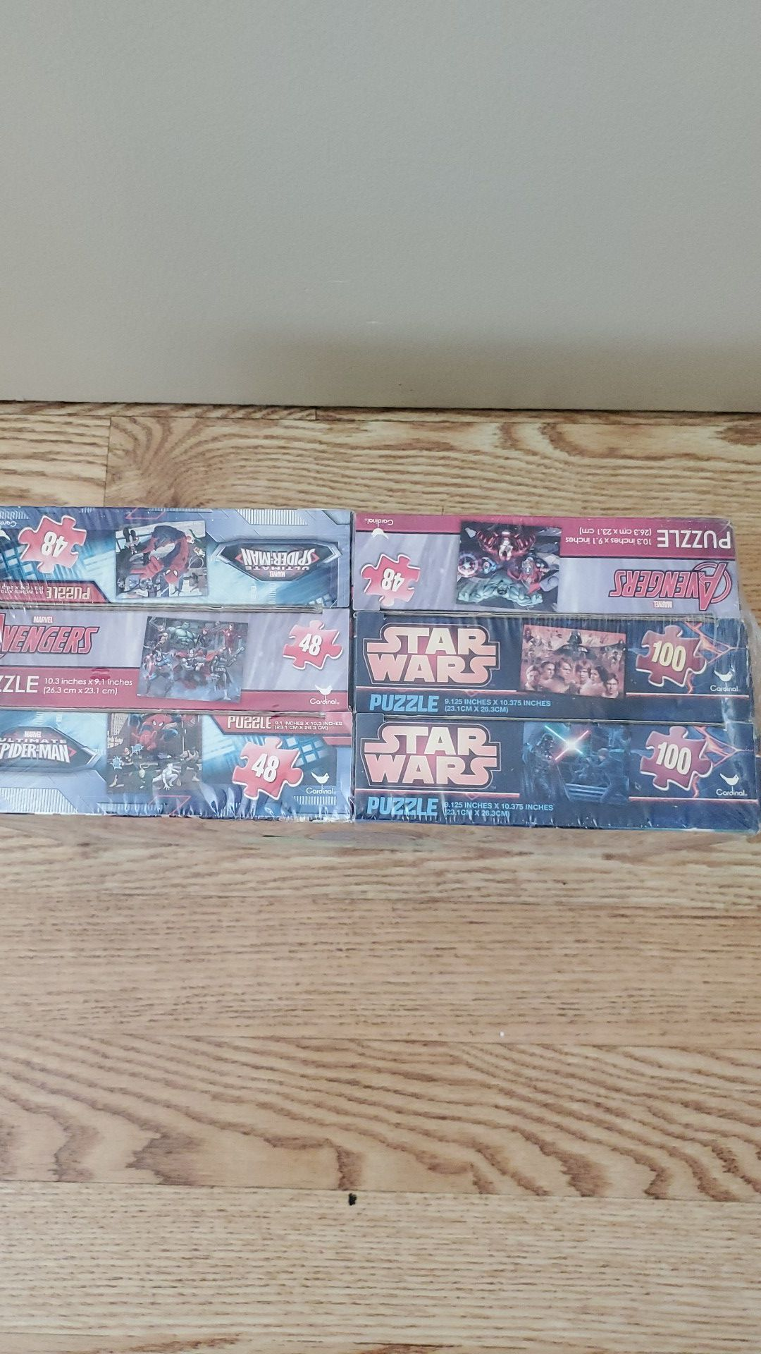 Avengers, Star Wars, & Spiderman... *6* Puzzle Party Pack
